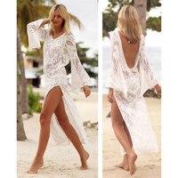 Женское кружевное бикини, пляжная одежда, Пляжное Платье, летний купальный костюм E