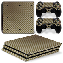 Carbon Fiber Skin Sticker Vinyl Cover for Sony PlayStation 4 pro 1 tb PS4 pro Console Controller Sticker Vinyl