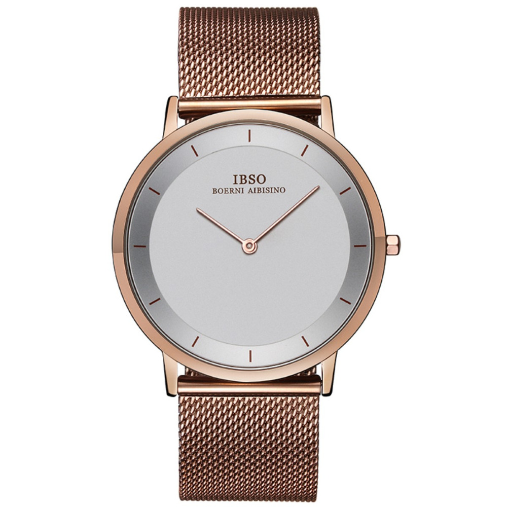 IBSO New Fashion Simple Dress Watches for Men Ultra Thin Case Quartz Analog Wrist Watch 2221 цена и фото
