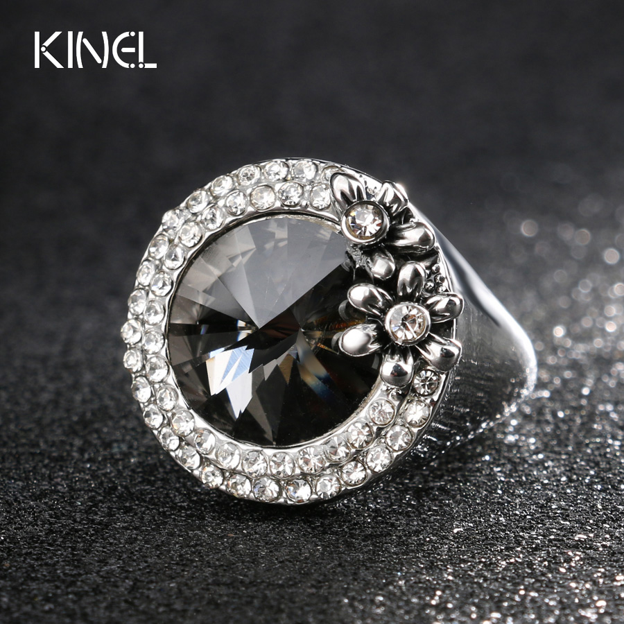 ᗖkinel Korean Jewelry Gray ⑧ Satellite Satellite Stone