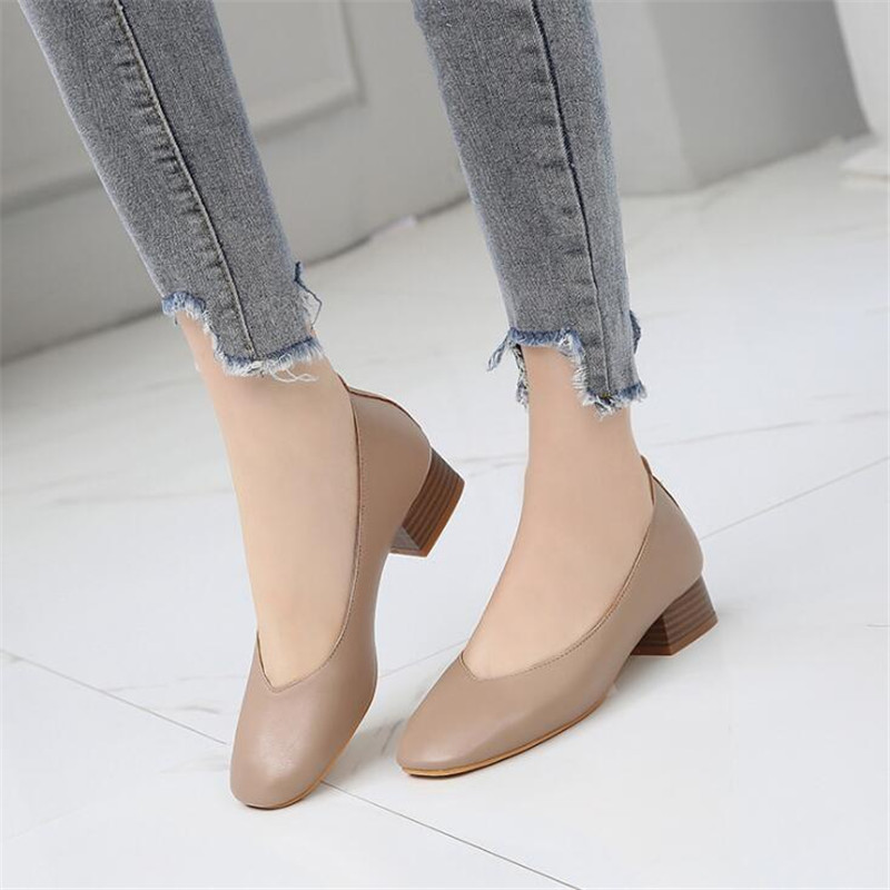 High-Heels Shoes Mary Jane Square-Head Fashion Women's New Spring with Elegant Female