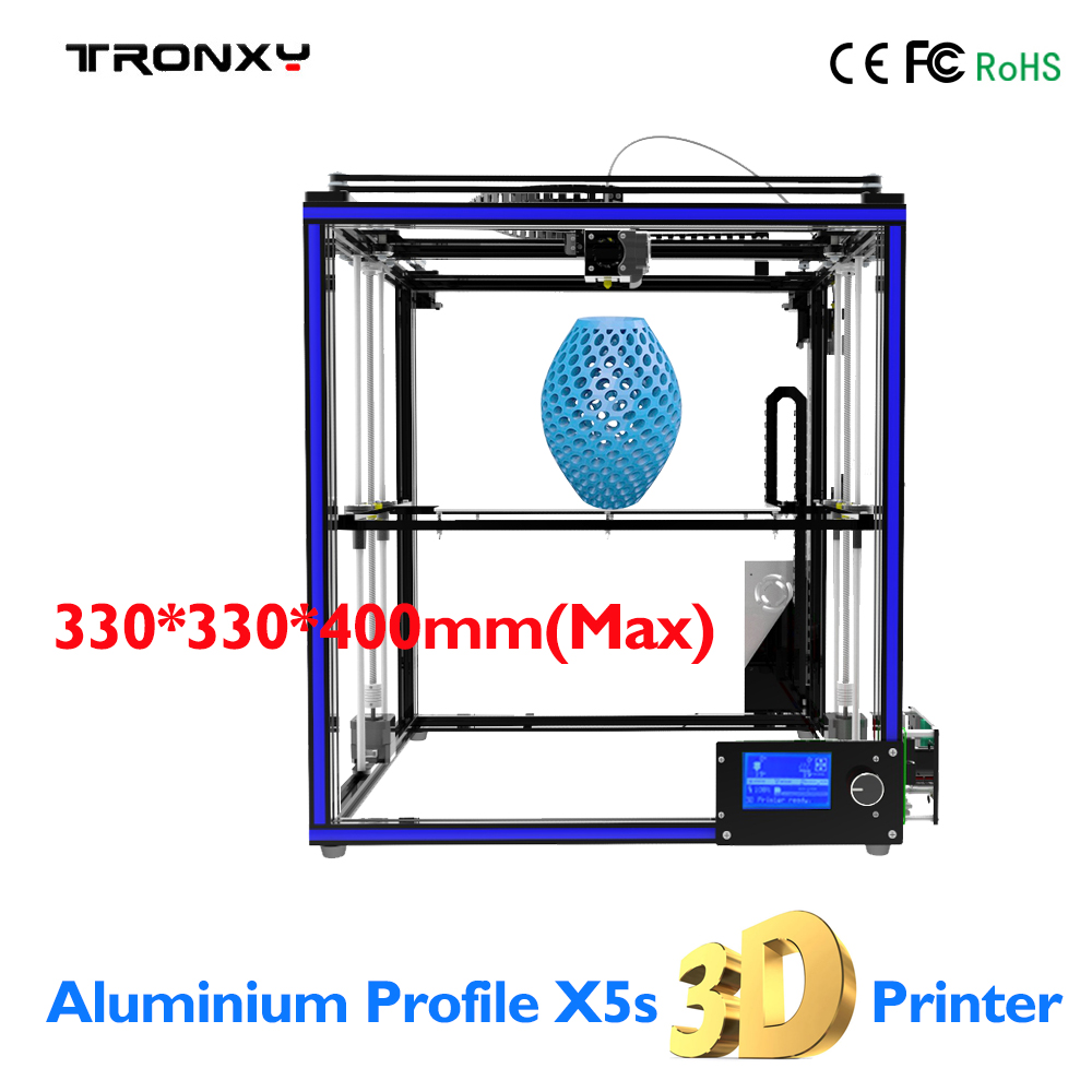 TRONXY X5S 3D Printer Kit 3D Printing Size 330*330*400mm Aluminum Frame Large 3D Printer 20-150 mm/s LCD DIY Heated Bed Extruder zonestar newest full metal aluminum frame big size 300mm x 300mm auto level laser engraving run out decect 3d printer diy kit