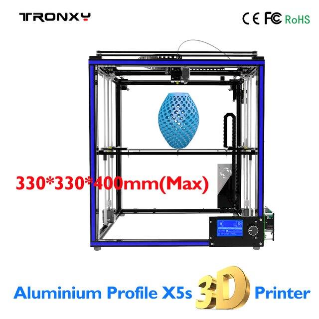 TRONXY X5S 3D impresora 3D impresión tamaño 330*330*400mm marco de ...