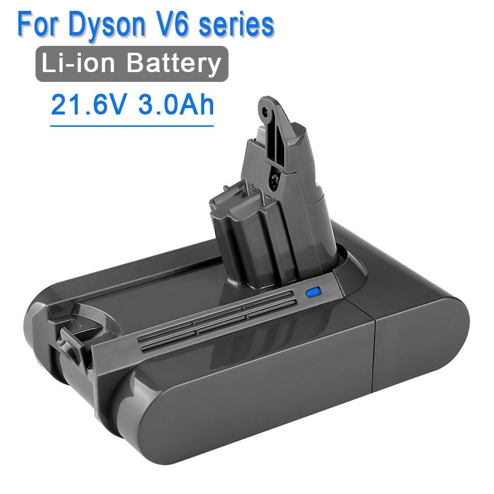 21.6 V 3000 mAh Li-ion remplacement de la batterie pour Dyson Batterie 3.0Ah V6 DC61 DC62 DC72 DC58 DC59 DC72 DC74 aspirateur 965874 -02