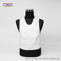 NIJ IIIA Size Medium Black Covert Aramid Bulletproof Vest NIJ 3A Large Sized Ballistic Vest Large