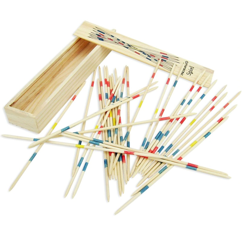 Детские, для малышей Развивающие деревянные традиционные Микадо Spiel Палочки палочки с коробкой игры дети подарки Математика игрушки