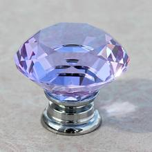 Incroyable Modern Fashion Deluxe Purple Crystal Cabinet Drawer Knobs Silver Chrome  Dresser Cupboard Funrinture Door Knobs Handles Pulls