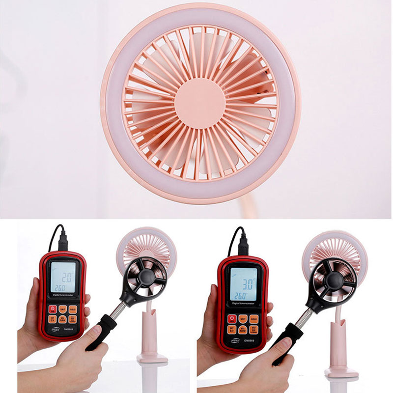 USB Mini Night light Fan Led Night Desktop lamp Clamp Flexible Led Fan Lamp Hands Free Fan For baby kids desk led night light