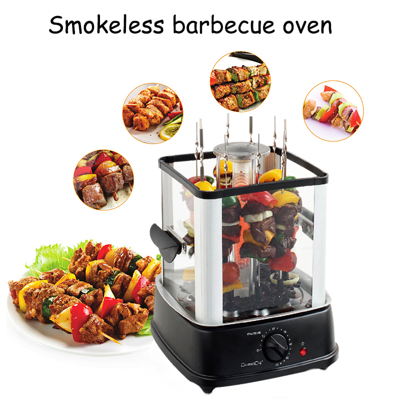 FL2026 Automatic Baking Machine Smoke Free Electric Barbecue Grill Rotary BBQ Machine Indoor Smokeless Infrared Heating Oven цена и фото