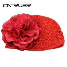 CN-RUBR New Knitted Newborn Photography Props Cute Flower Baby Hat Crochet Toddler Beanie Baby Girl Caps Accessories Gift