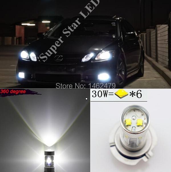 2 x Canbus No Error 9006 HB4 Super Birght Projector LED Fog Lights Bulb For Lexus GS RX 300 330 LS460 IS250 LS600h ES350
