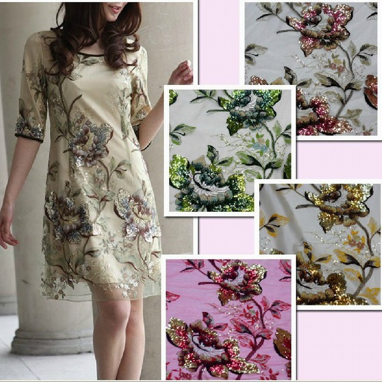 Net Cloth Embroidered Fabrics Solid Bead Embroidery Flower Las Evening Dress In Fabric From Home Garden On Aliexpress Alibaba