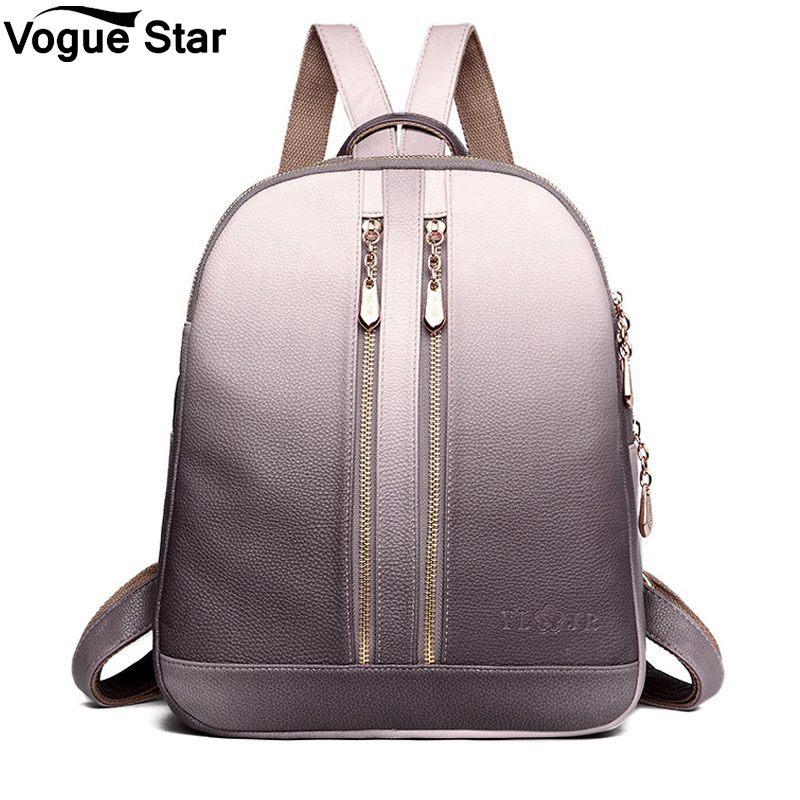купить Female Travel Shoulder Bagpack Ladies Casual Daypacks 2018 Women Leather Backpacks For Girls Sac a Dos School Backpack M99 по цене 1351.11 рублей