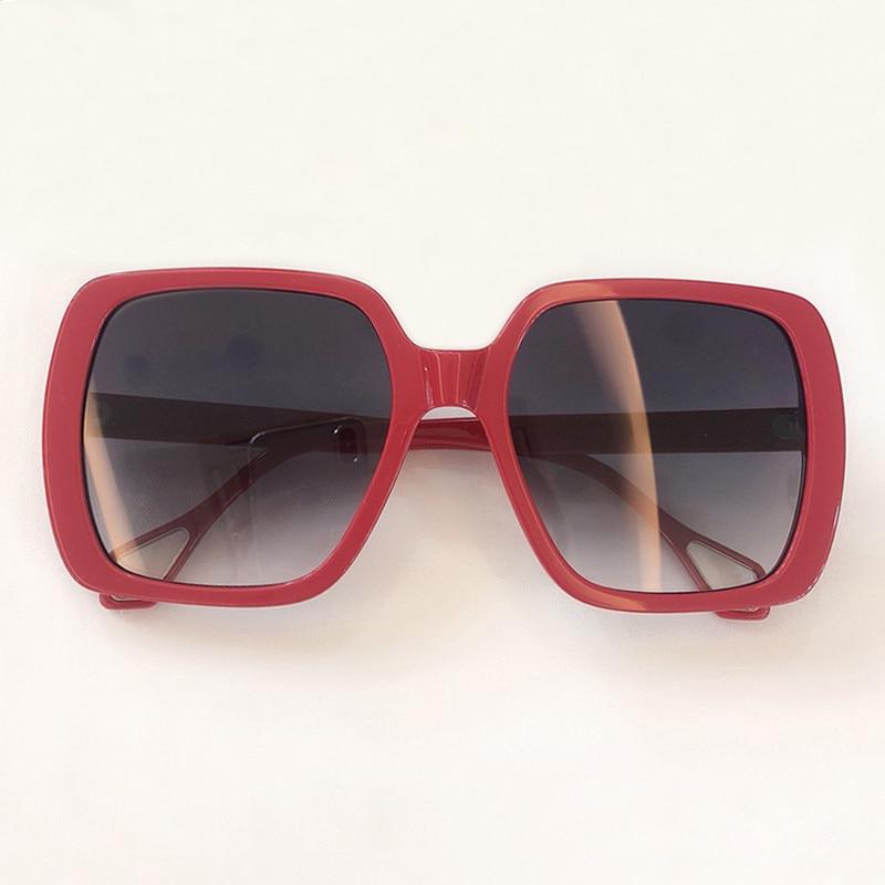 Nouveau Style carré lunettes De soleil femmes marque acétate grand cadre lunettes surdimensionnées femmes Oculos De Sol Gafas UV400