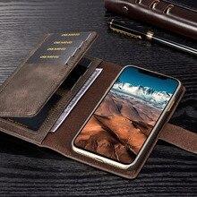 DG. MING Lüks Hakiki Deri Kılıf iphone X 8 7 6 S 6 artı Telefon Kılıfları Kart Tutucu 2 1 Ayrılabilir Cüzdan Kapak Çevirin