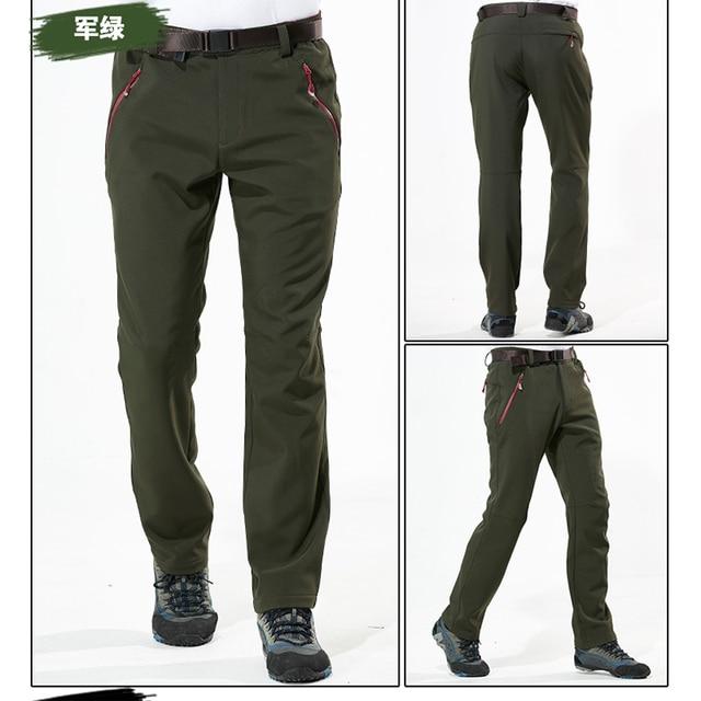 М-4XL Плюс Размер 2016 зима мужчины solfshell брюки густой шерсти quick dry водонепроницаемый ветрозащитный брюки YNK022