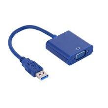 USB 3.0 / 2.0 to VGA USB VGA Adapter USB VGA Cable Projector 1080P HD Converter External Adapter for Win 7/8