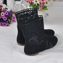High quality breathable mesh summer ladies flat ankle boots 2019 summer women's boots fashion cut size 34-41