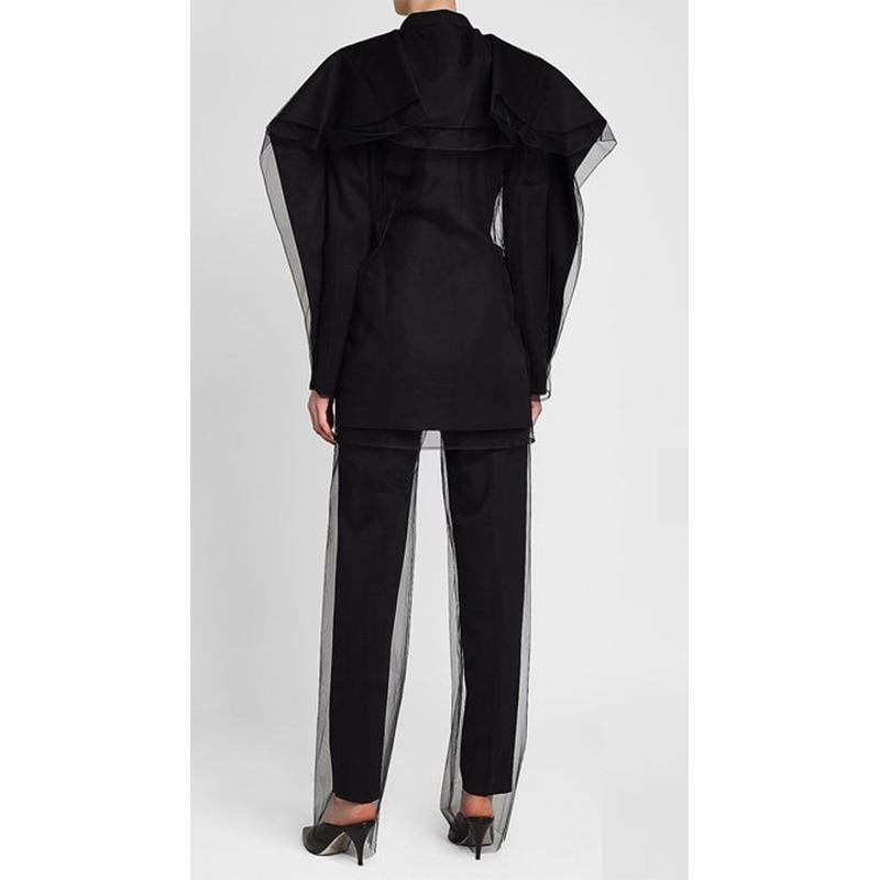 Automne Maille 2018 Pleine Casual Femmes Black Nouvelle Mode Longueur Double Pantalon Couche Droite Kb513 Plissée Arrivée De deat Bas 5Fq8wx5