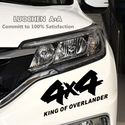 4x4 off road king of overlander suv 4wd car stickers creative decals auto tuning styling waterproof 178cm 2512cm d11 in car stickers from automobiles