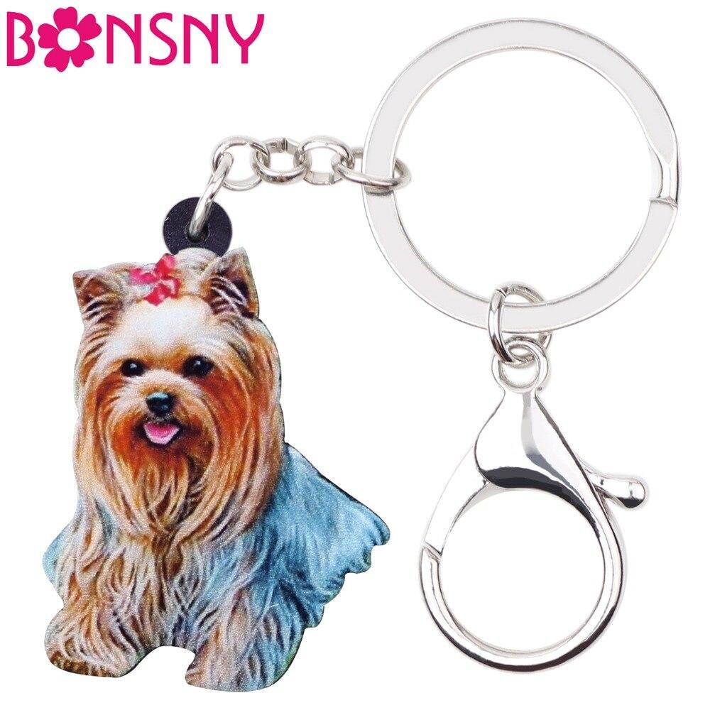 Bonsny Acrylic Cartoon Shih Tzu Dog Key Chains Keyrings Gift For Women Girl  Ladies Handbag Charms Fashion Jewelry Bulk 2018 News bc98b88d81