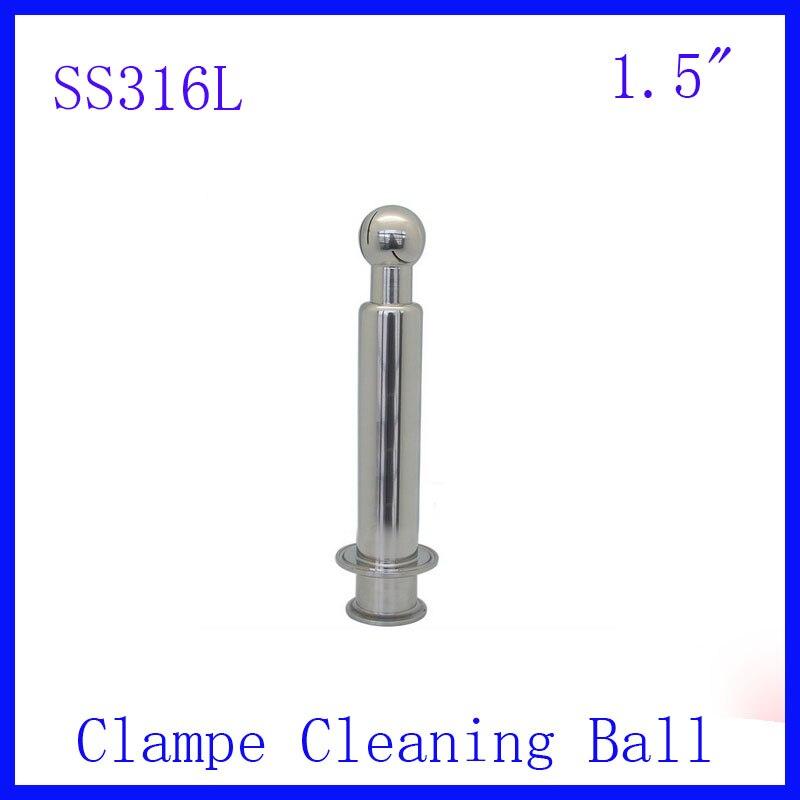 ГОРЯЧАЯ 1,5 SS316L нержавеющая сталь поворотный спрей чистящий шар CIP Tri clampe шарик для очистки резервуара