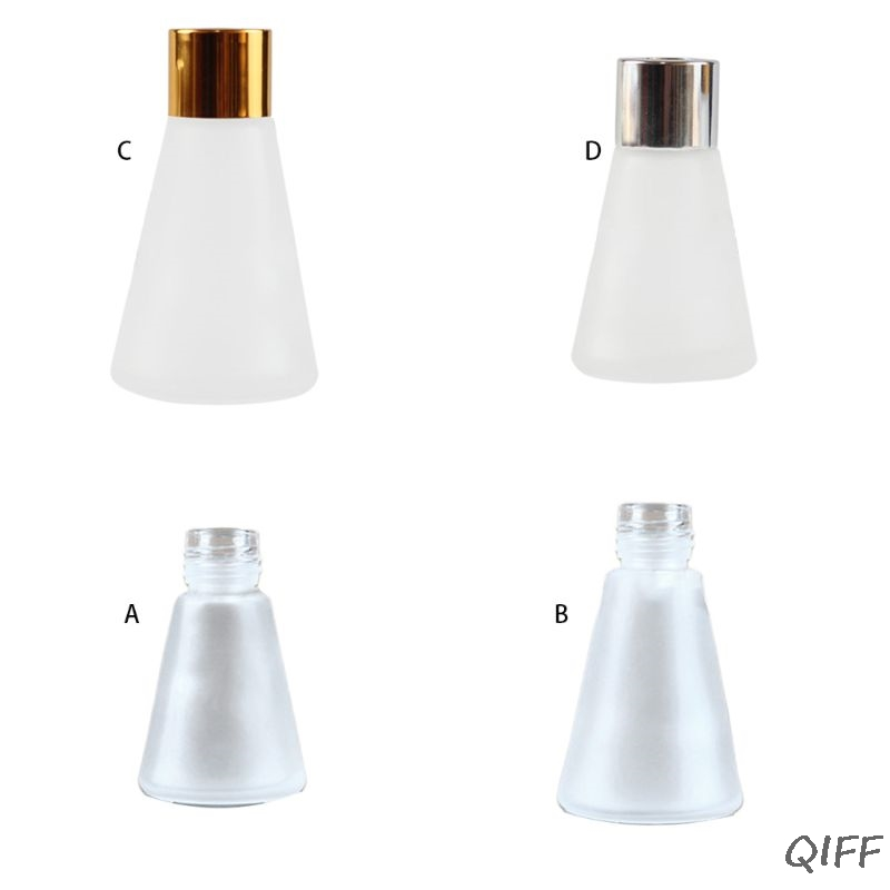 Clear Glass Aroma Diffuser Empty Bottles Scrub Cone Containers For Essential Oils DIY Replacement Reed Jars Wedding Party Deco