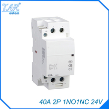 auxiliar de partida  40A 2P 24V 1NO 1NC 50 or 60HZ Din rail Household AC Contactor rated current 40a 3poles 1 nc 1no 48vac coil voltage ac contactor motor starter relay din rail mount