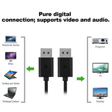 High Stability 1.8M Display Port To DisplayPort DP Adapter Cable DP Male To DP Male Converter Adapter Cable Black displayport dp male to hdmi male adapter cable black 150cm