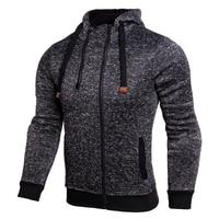 2017 herbst Männer Hoodies Sportwear Mode Doppel-reißverschluss Mit Kapuze Sweatshirts Outwear Feste Slim Fit Männlichen Hoody Sweatshirts Jacke