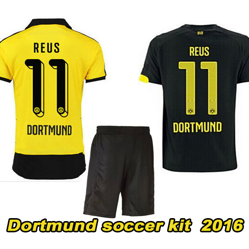 online store 934f1 7072f 2016 Dortmund soccer kit best quality BVB uniforms Jerseys ...