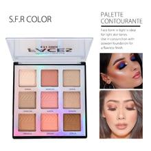Brand Professinal Face Makeup Shimmer 9Color Bronzer And Highlighter Palette Powder Make Up Glow Kit Highlighter Contour Palette недорого