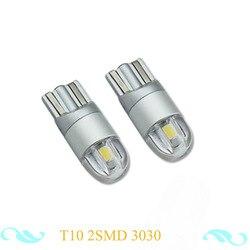 2 pcs T10 2SMD 3030 W5W LED Canbus Error Auto Gratuite Liquidation Lumière Voiture Wedge Tail Side Ampoule Lampe de Lecture 12-24 V