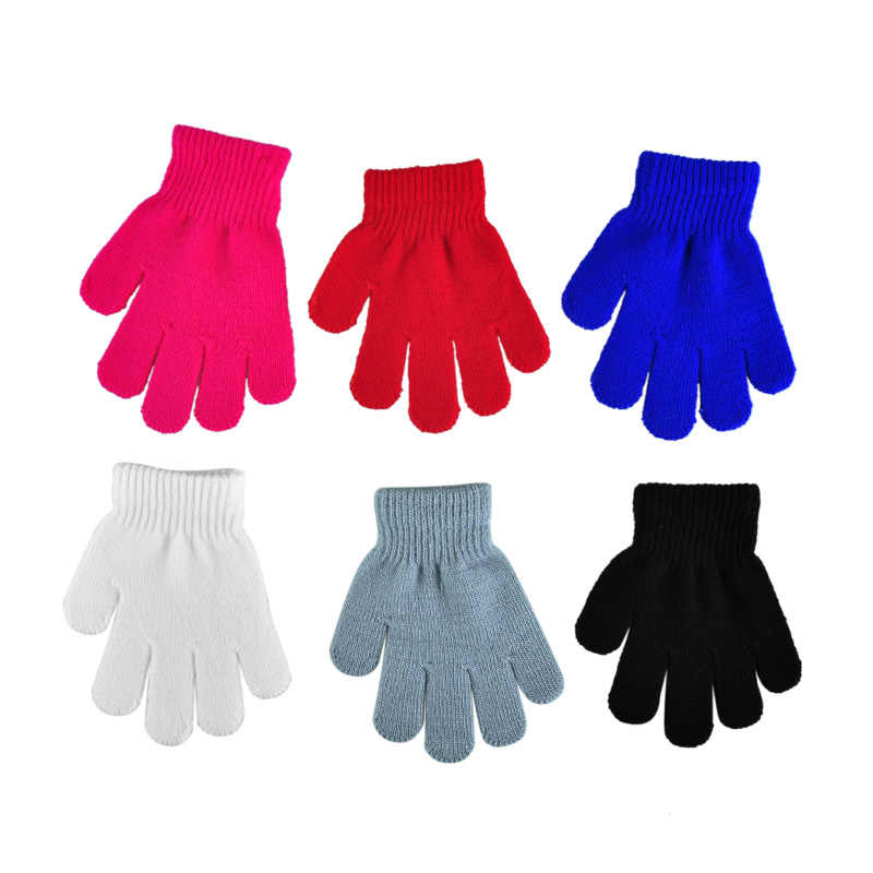 gloves Cute winter baby gloves mittens children full finger keep warm solid colors for sport cycling fishing snowboard running