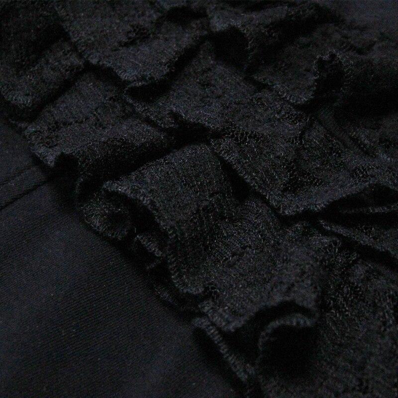 B9151 Collar Femenina Puede Patchwork Blusa Volantes Blusas 2017 Yuzi Las Nueva De Boho Black Mujeres Encaje Dobladillo Hueco qPFZwnxA1