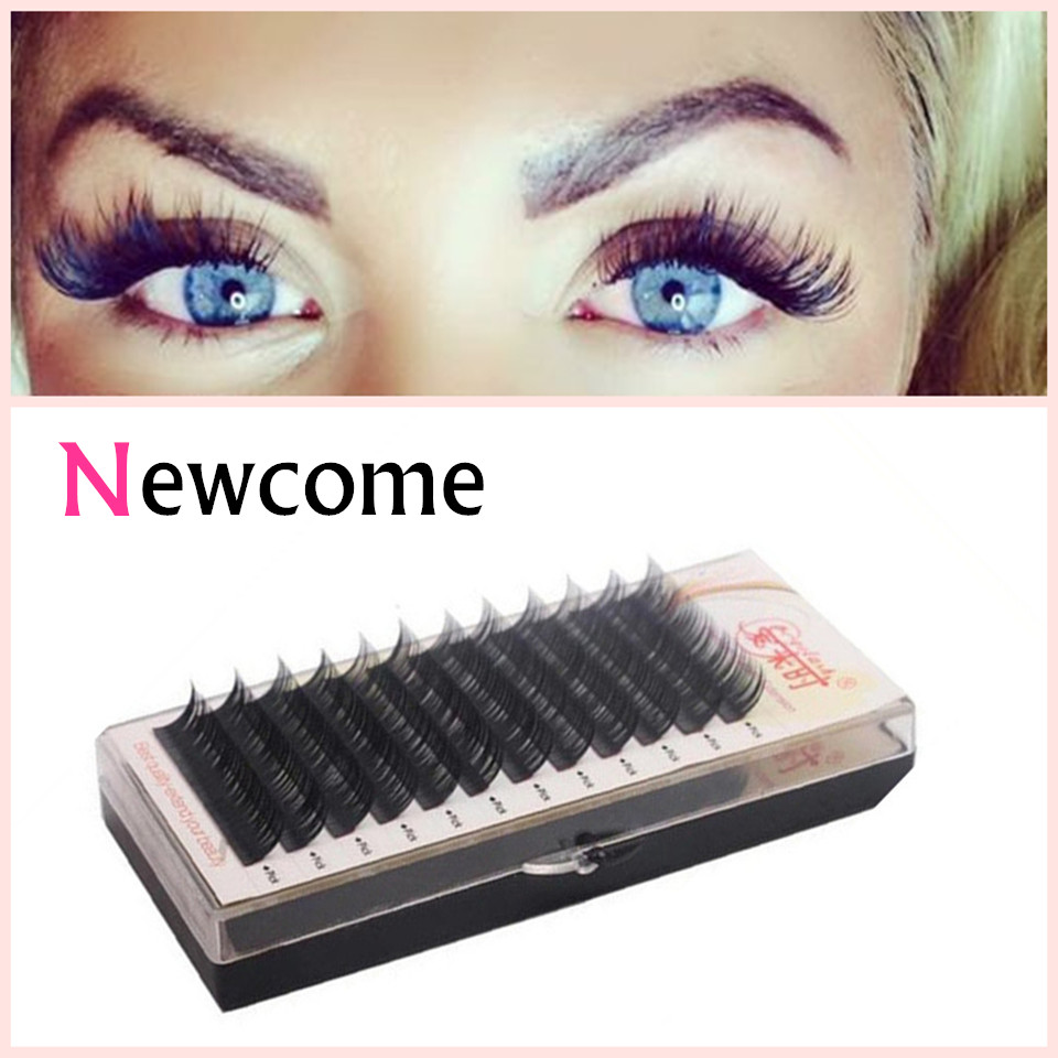 Eye Lashes Extension 0.05 Thickness Curl BCD Soft Silk Corea pestañas individuales, extensiones de pestañas falsas suaves naturales