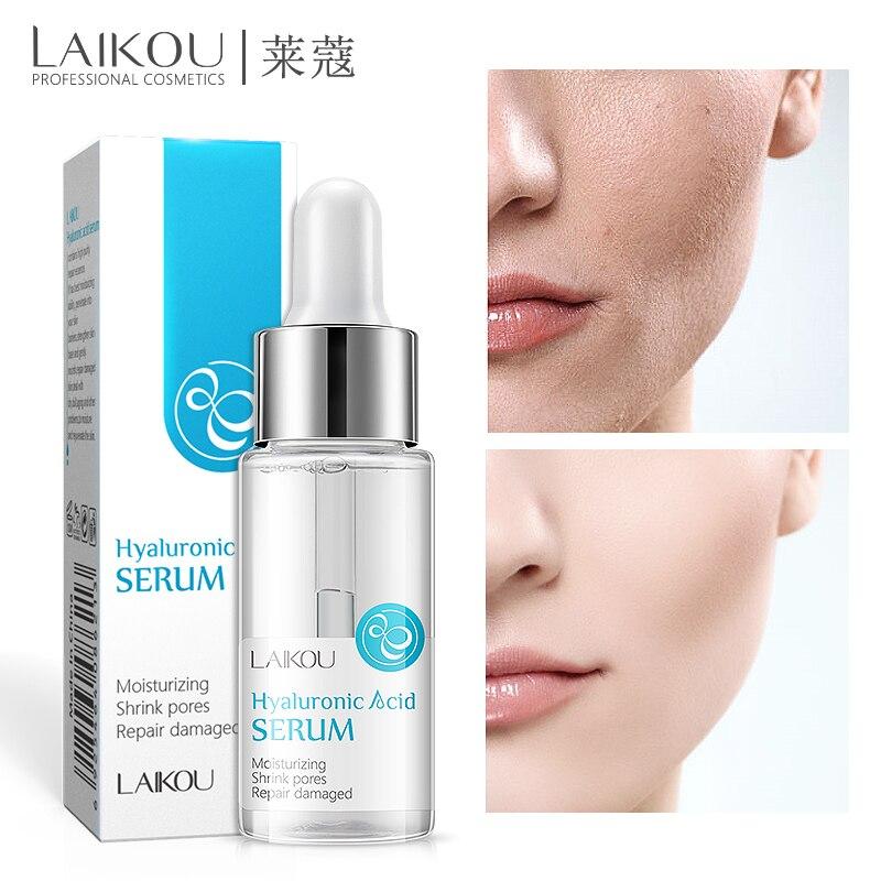 Laikou Hyaluronic Acid Serum Moisturizing Essence Face Cream Korean Shrink Pores Lanbena Acne Hyaluron Cosmetics Make Up  15ml