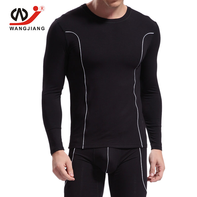 WJ Sexy Men Long Sleeve Tshirt Homme Brand Clothing Rashguard Fitness Clothing Men Clothes Spandex Shirt 2016 in T Shirts from Men 39 s Clothing