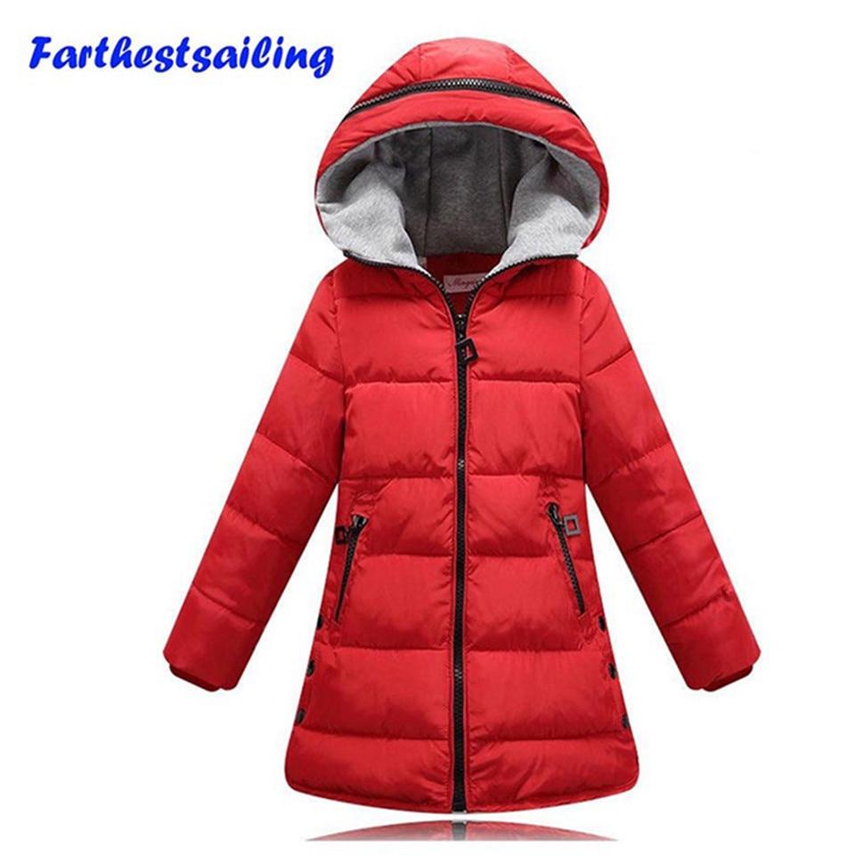 Girls Cotton Coats Children Winter Jackets Thick Warm Cottton Parka For Kids Hooded
