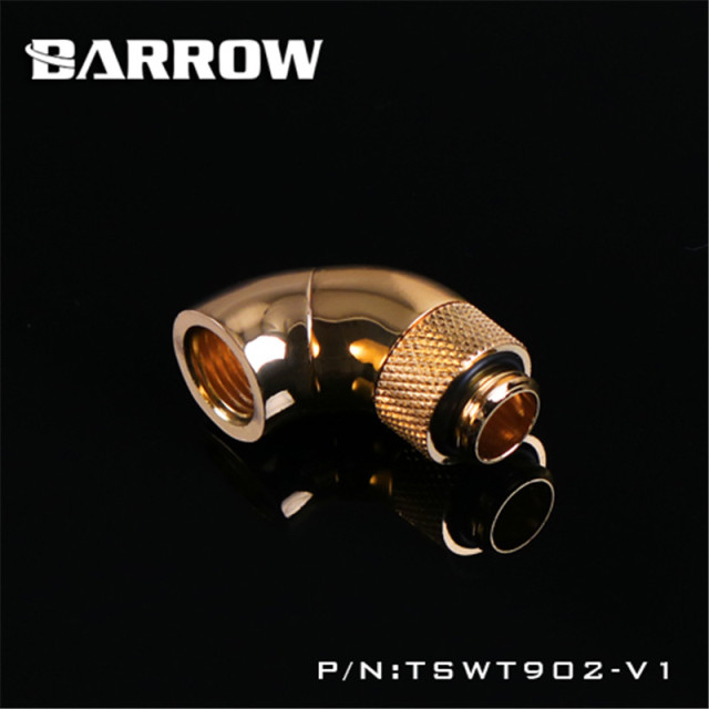 Barrow 360 degree Rotary Fitting 180 degree Snake 2-way Rotary Adapter (Male to Female ) for computer water cooling TSWT902-V1