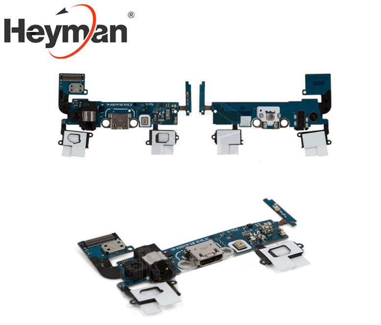 Heyman Flex Cable For Samsung Galaxy A5 A500F A500FU A500H A500M Microphone Headphone Connector,USB Charge Connector Components