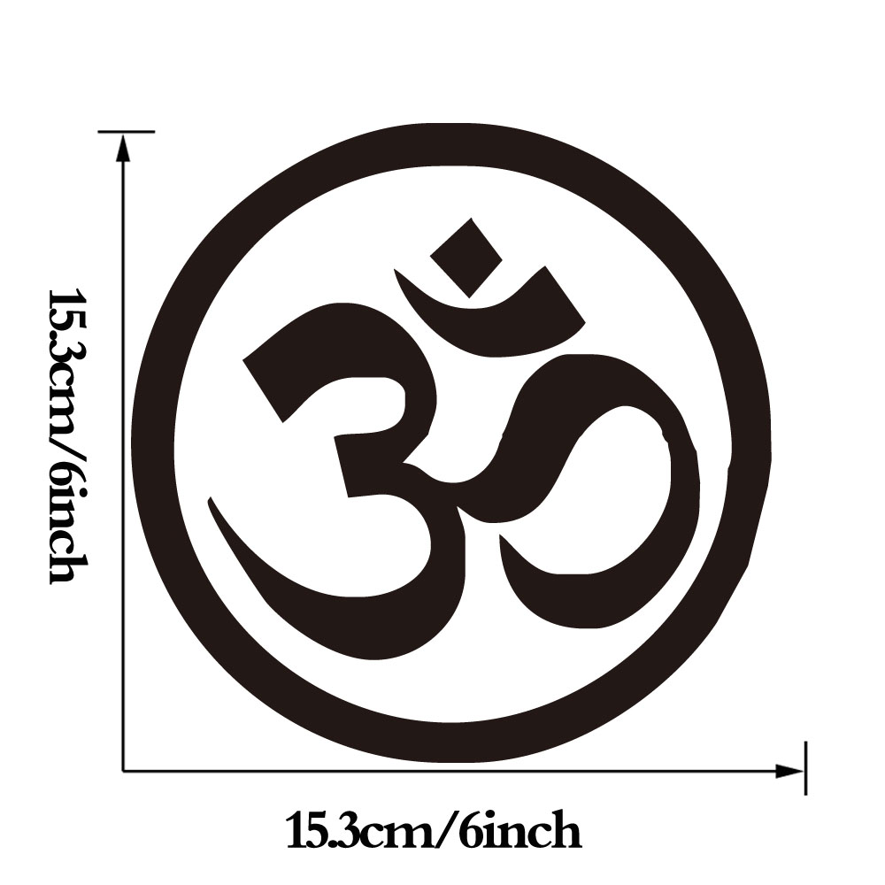 Om Aum Symbol Hindu Yoga Computer Sticker For Bike Laptop Small