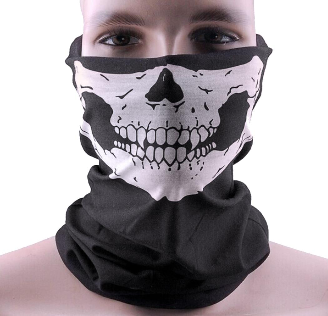 COXEER Halloween Cosplay Bicycle Ski Skull Mask Half Face Mask ...