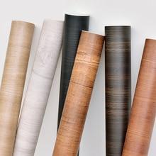 цена на tapety Self Adhesive Vintage Wood Grain Wall Papers for Walls Waterproof  Vinyl Film Door Furniture Wardrobe Wall Paper Roll 5m