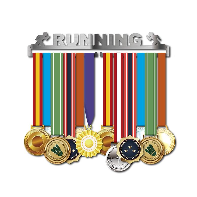 Image 2 - Race medal hanger Running medal holder Sport medal hanger display hold 10~16 medals-in Pins & Badges from Home & Garden