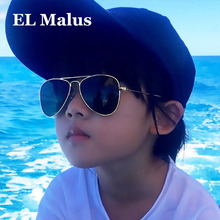 [EL Malus]Retro Children Aviation Sunglasses UV400 Gold Fram