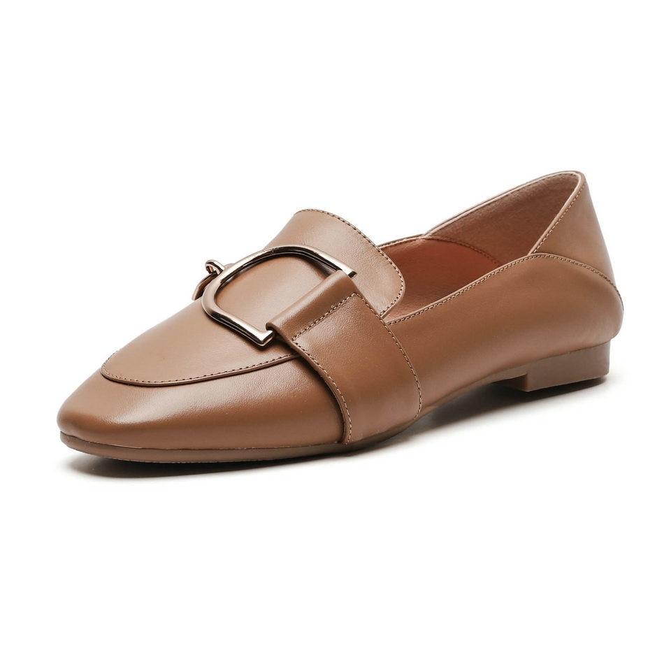 Beige Chaussures Casual Bout apricot Noir Pu Femme 12 Cuir De Taille Plat Femmes Talons noir En Pointu Eshtonshero Solide Mode 2019 Appartements Dames 3 wETqgE17