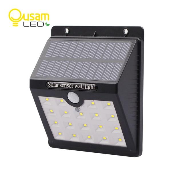 Solar Lamp 19led Pir Sensor Motion Panel Porch Light Waterproof Wireless Lights For Exterior Lighting Wall