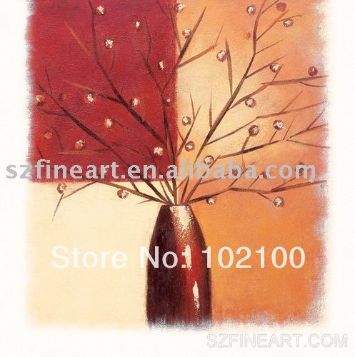 Hot seller of handmade high quality iimpressionist floral oil painting (FA-AB-219) free shipping