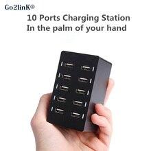 Универсальный 10 way multi usb хаб мобильного телефона зарядное устройство 5 В 8A EU/US/UK стены AC зарядка Док-Станция Power Strip для смартфонов